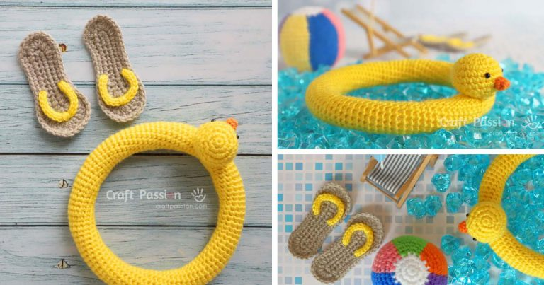 Rainbow Beach Ball, Mini Sandals, Duck Buoy Amigurumi Crochet Free Pattern