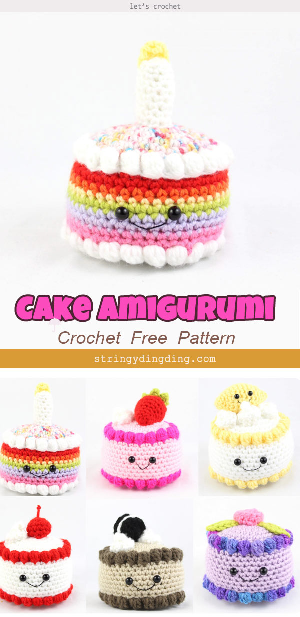 Bithday Cake Amigurumi Free Crochet Pattern
