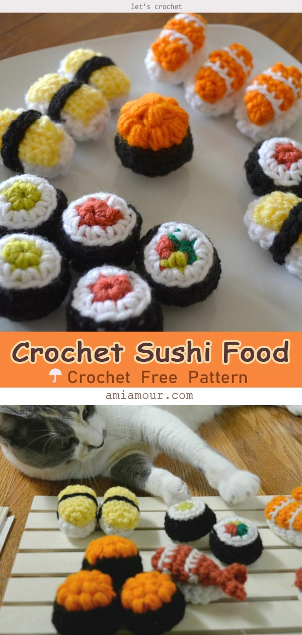 Sushi Amigurumi Food Crochet Free Pattern