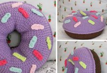 Donut Pillow Crochet Free Pattern