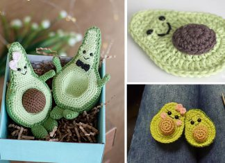 Avocado toy Amigurumi Crochet Free Pattern