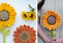 Crochet Sunflower Amigurumi Flower Wand free Pattern