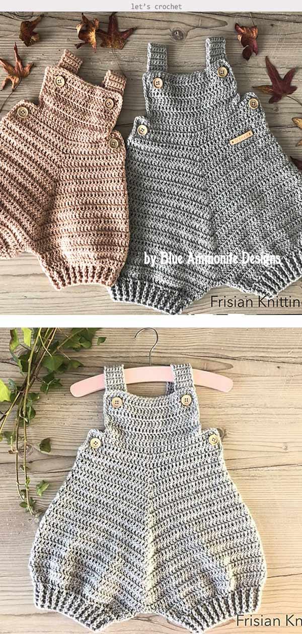 Baby Romper Bjorn Crochet Pattern