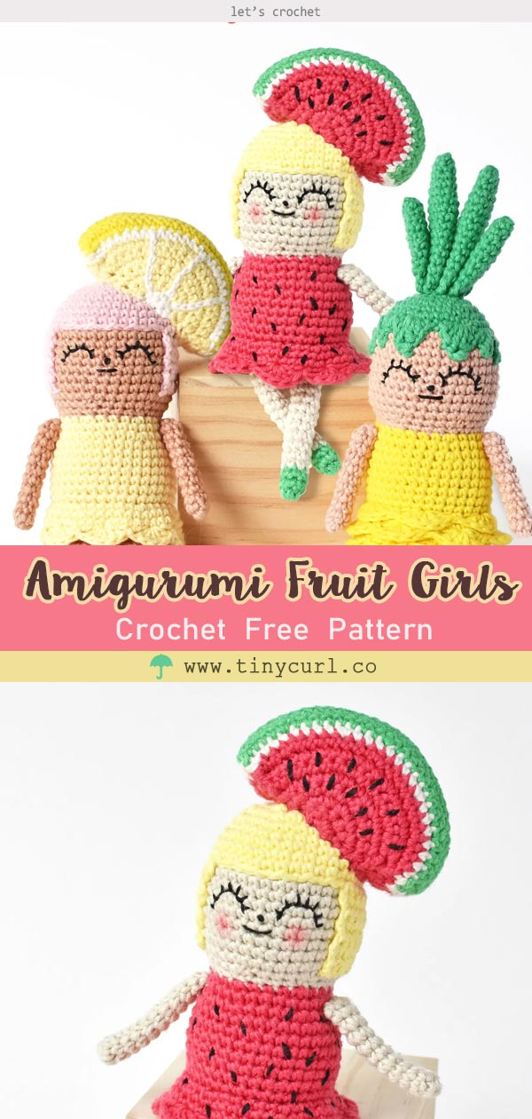 Amigurumi Fruit Girls Free Crochet Pattern