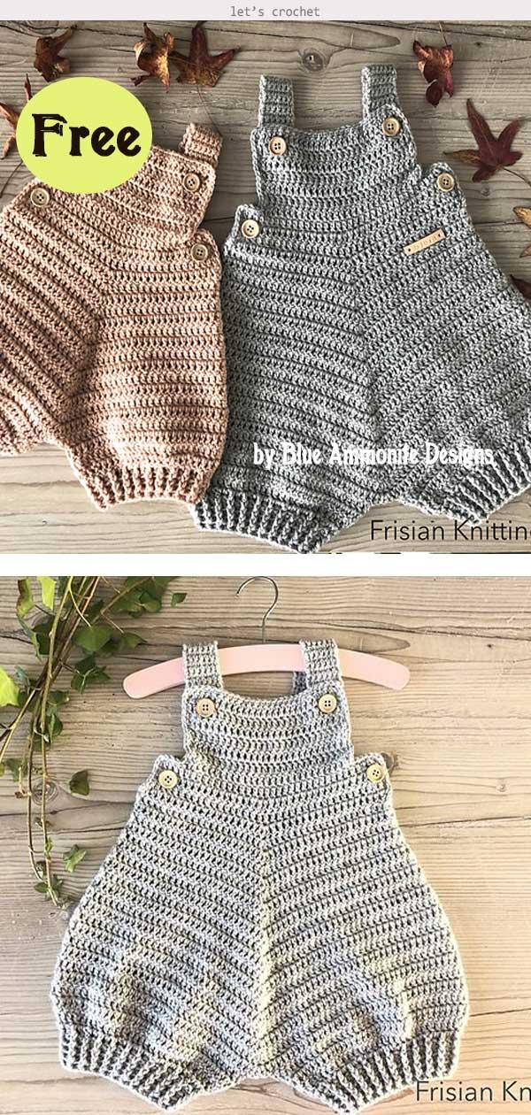 Baby Romper Bjorn Free Crochet Pattern