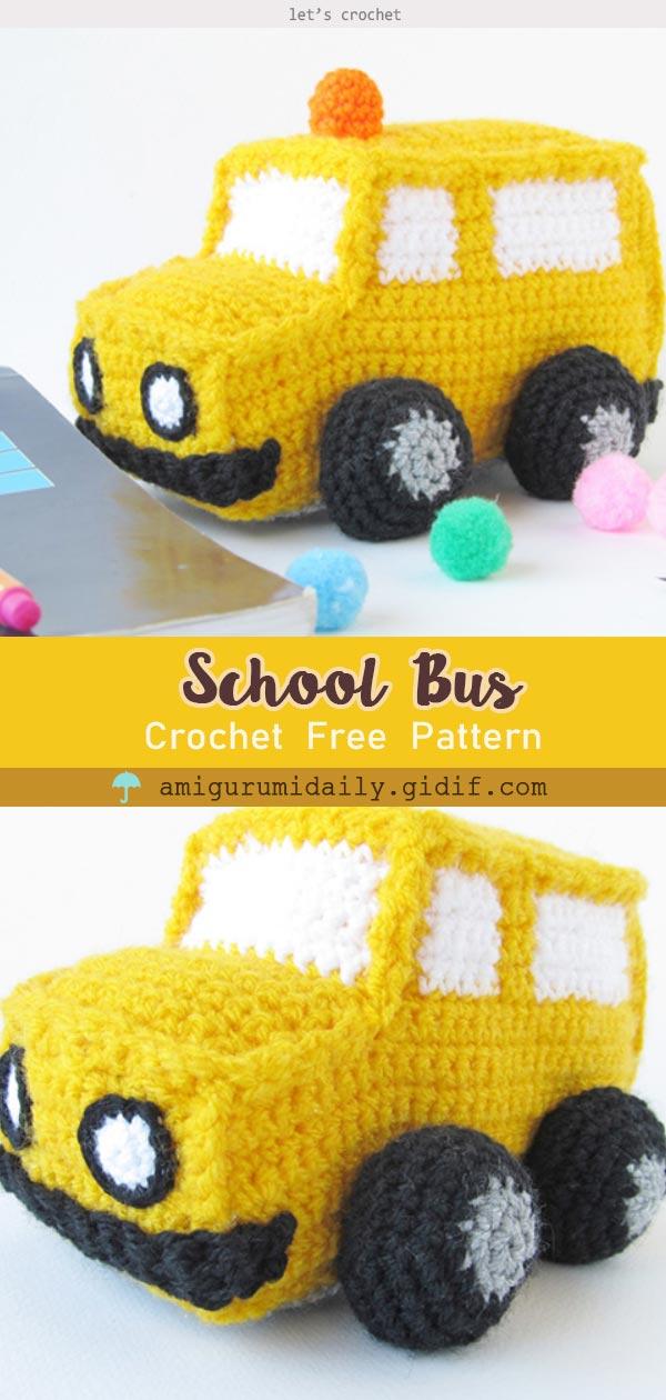 Crochet Amigurumi School Bus Free Pattern
