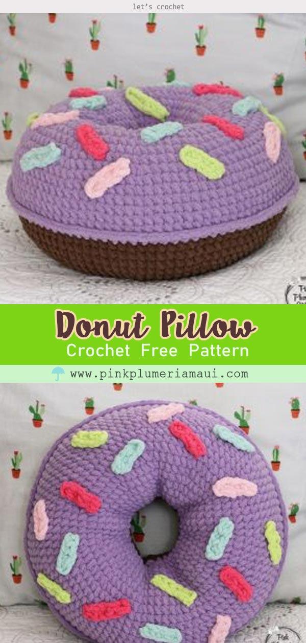 Donut Pillow Crochet Free Pattern