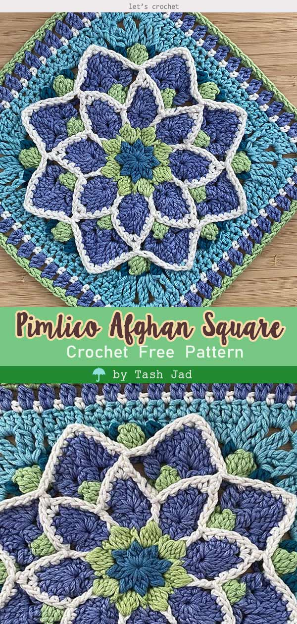 Pimlico Afghan Square Free Crochet Pattern
