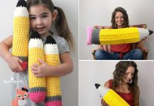 Crochet Plush Pencils Free Pattern