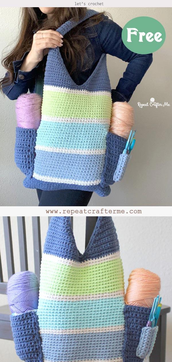 Crochet Tall Tote Bag Free Pattern