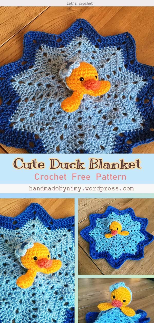 Cute Duck Blanket Free Crochet Pattern