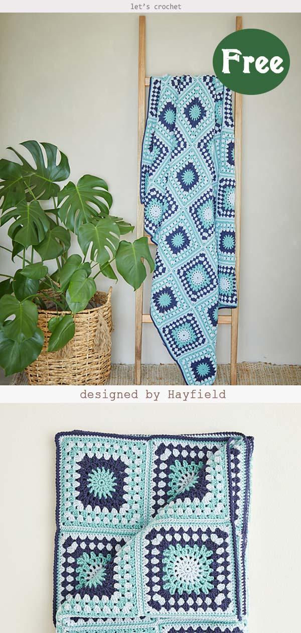 Granny Square Blanket Free Crochet Pattern