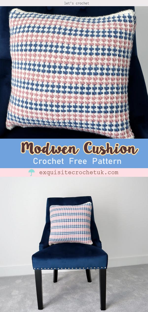 Modwen Cushion Free Crochet Pattern