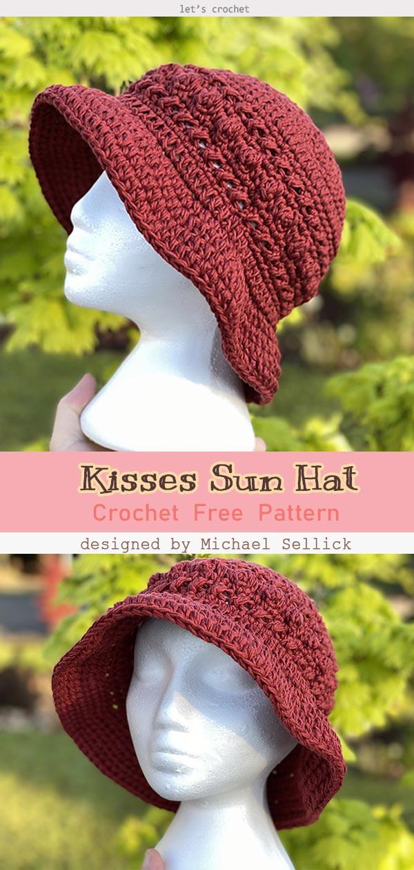 2 Sun Hat Free Crochet Pattern