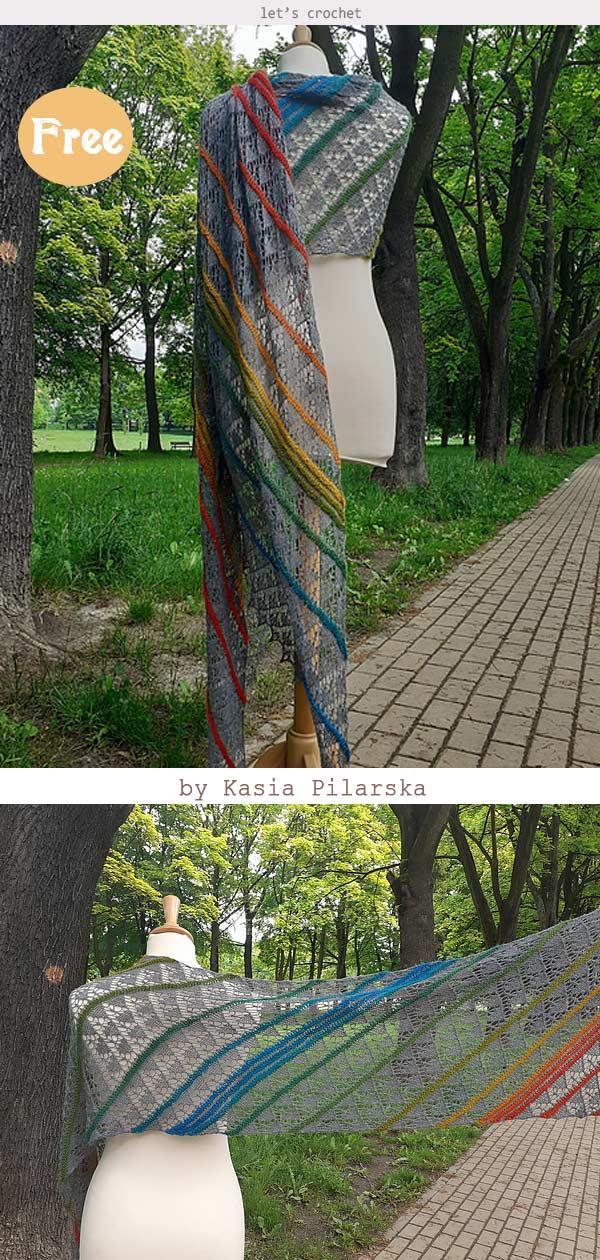 Heavy Skies Shawl Crochet Free Pattern