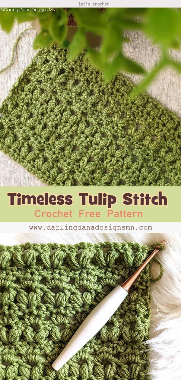 Timeless Tulip Stitch Free Crochet Pattern