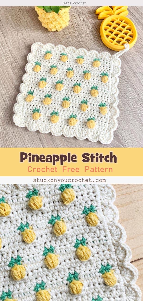 Crochet Pineapple Stitch Free Pattern