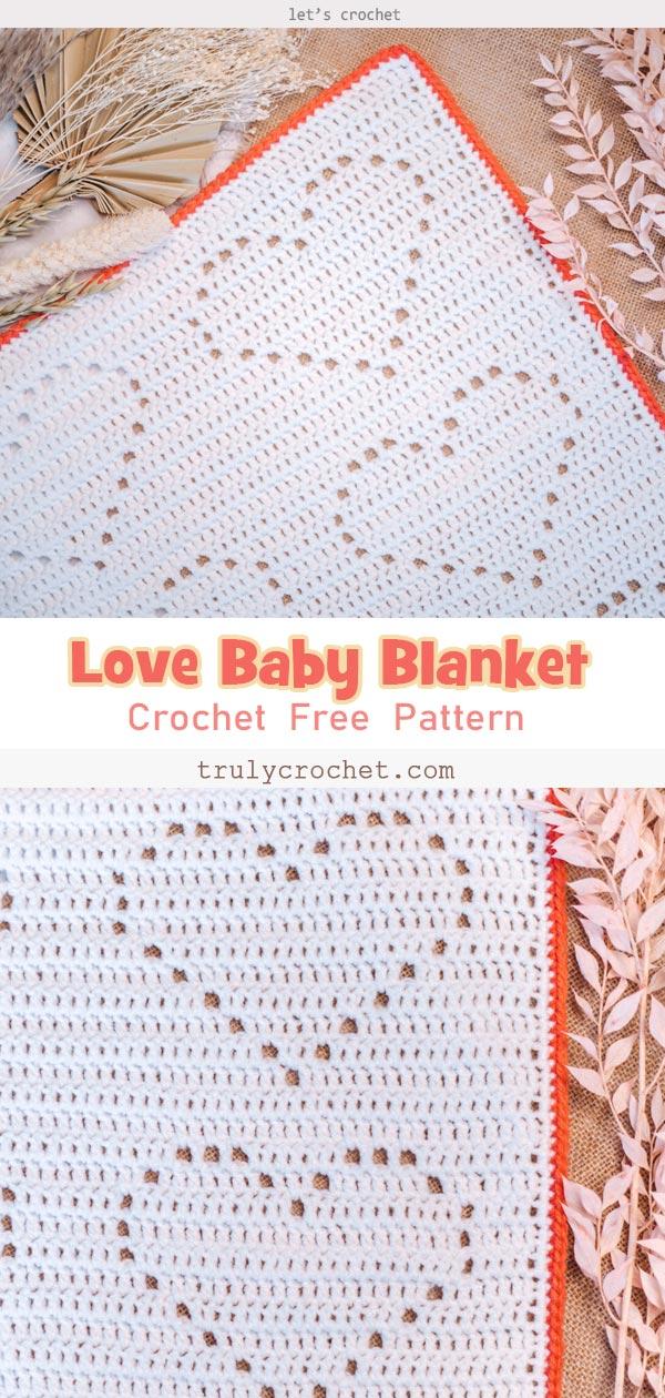 My Love Baby Blanket Free Crochet Pattern