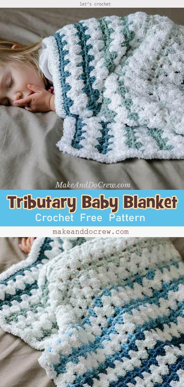 Tributary Baby Blanket Free Crochet Pattern