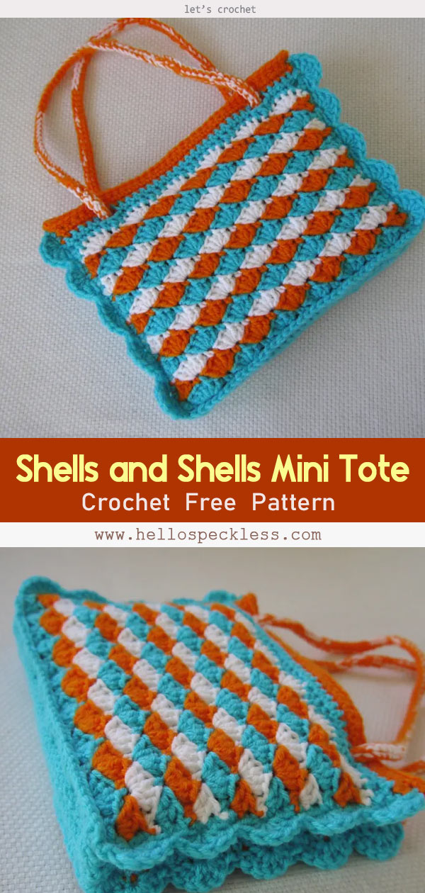 Shells and Shells Mini Tote Crochet Free Pattern