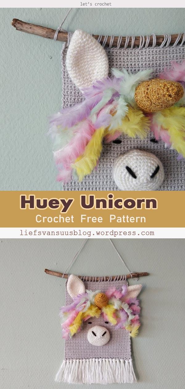 Huey Unicorn Free Crochet Pattern