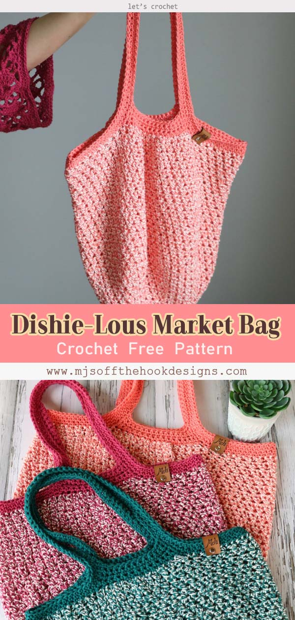 Dishie-Lous Market Bag Crochet Free Pattern