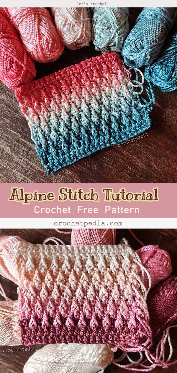 Alpine Stitch Tutorial Free Crochet Pattern