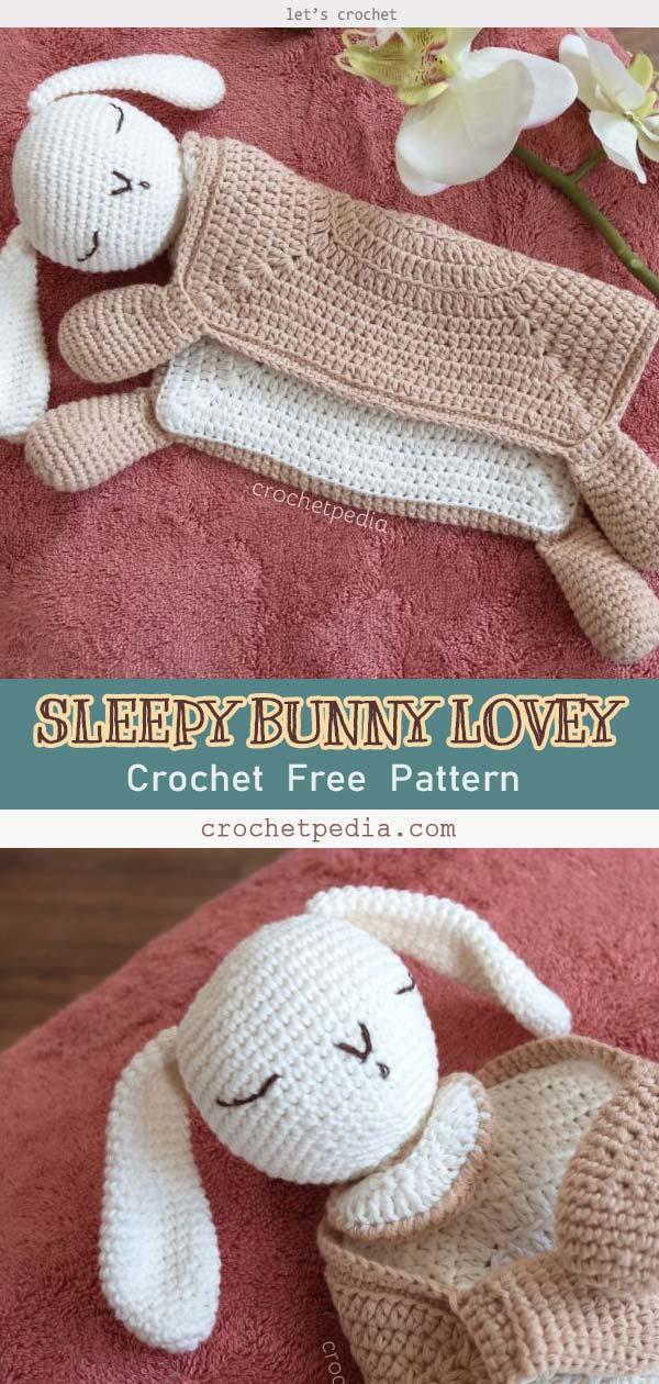 SLEEPY BUNNY LOVEY FREE CROCHET PATTERN