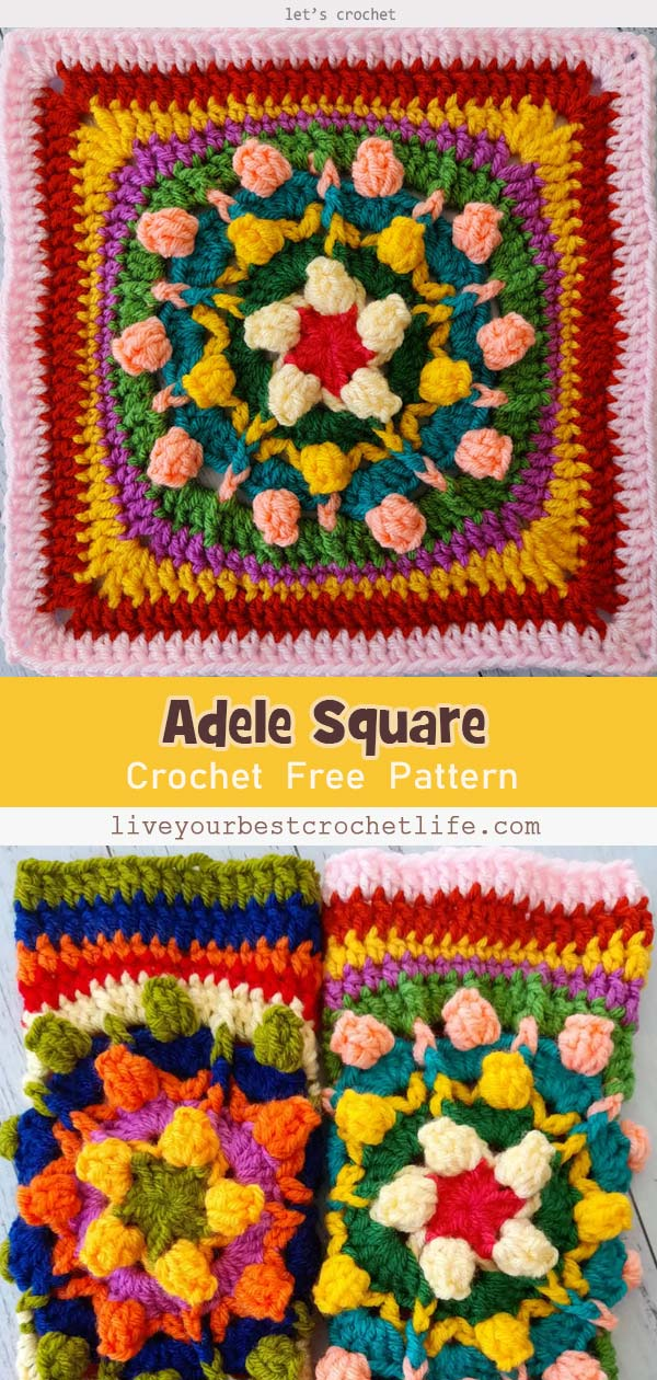 Adele Square Free Crochet Pattern
