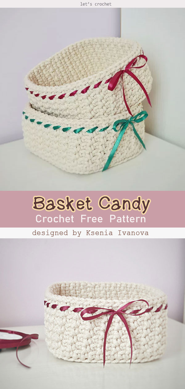 Basket Candy Free Crochet Pattern