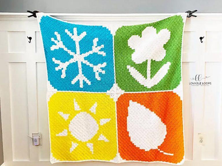 Four Seasons Blanket Free Crochet Pattern