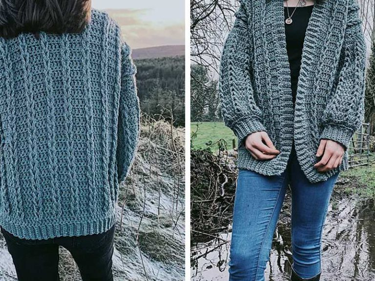 Braided Cardigan Sweater Free Crochet Pattern