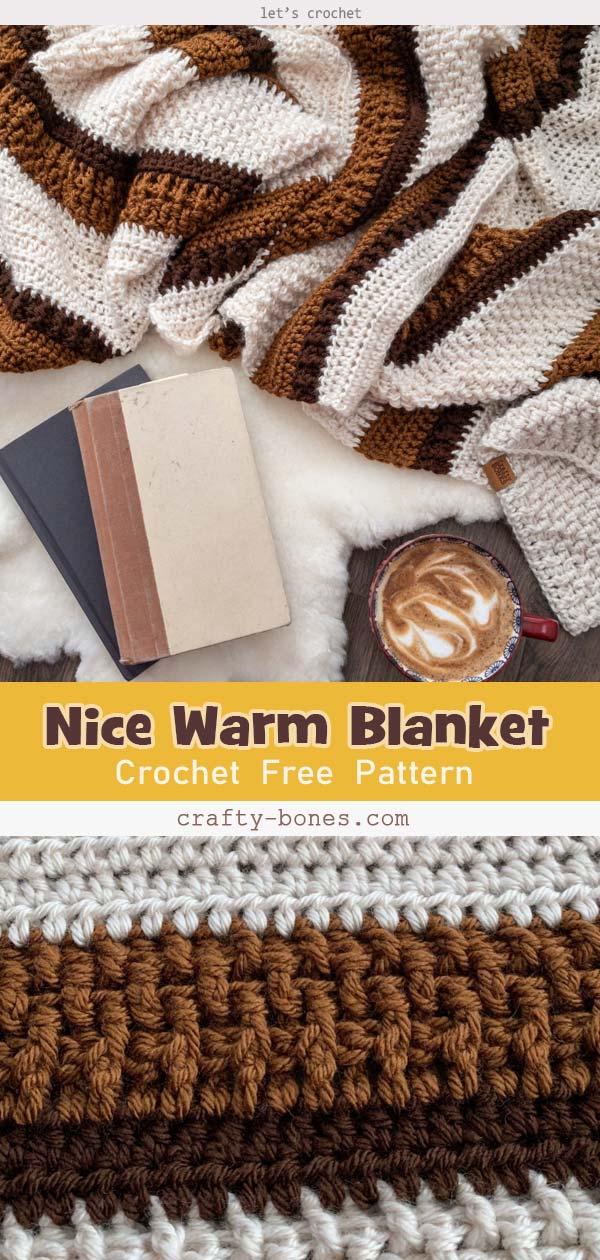 Crochet a Nice Warm Blanket Free Pattern