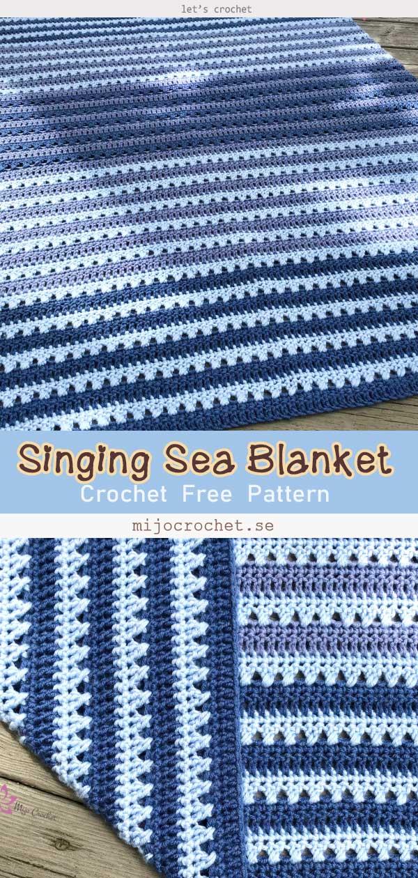 Cobertor Marinho Cantante Padrão Sem Crochê